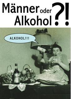 Postkarte  Mnner oder Alkohol Buchwaren  Papeterie Postkarten Verschiedene Motive