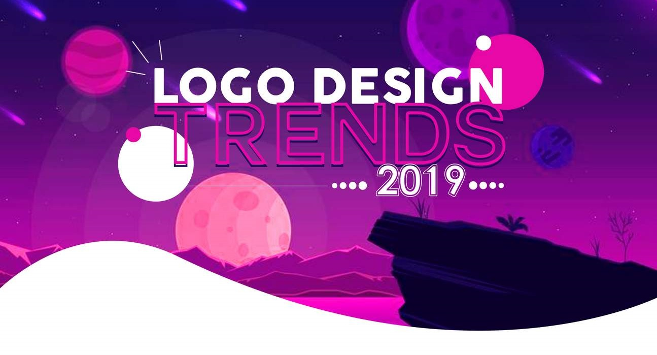 Infographic logo design trends voor 2019