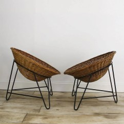 Mid Century Chairs Uk Eames Molded Chair A Pair Of Rattan Lounge  Cooling And