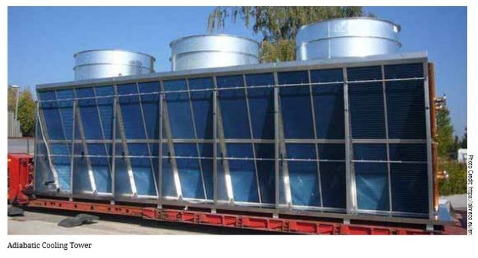 Adiabatic Cooling For Improving Chiller Performance