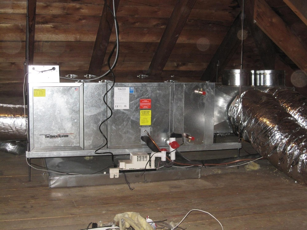 medium resolution of unico high velocity attic ac system