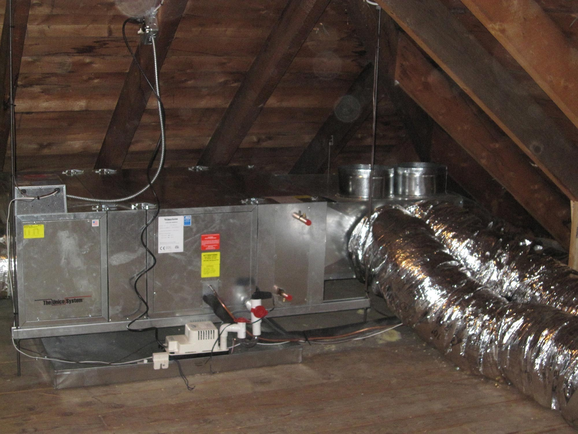 hight resolution of unico high velocity attic ac system