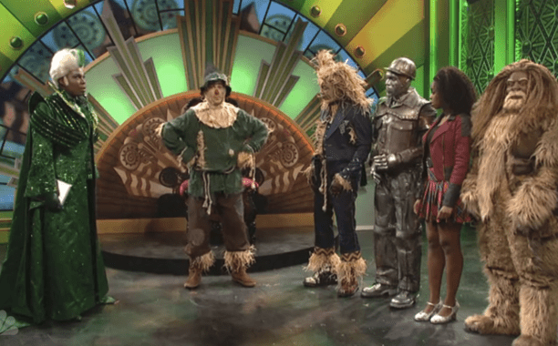 Ryan Gosling's White Scarecrow visits The All Black The Wiz