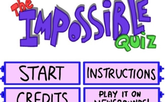 The Impossible Quiz Play Online At Coolmathgameskids