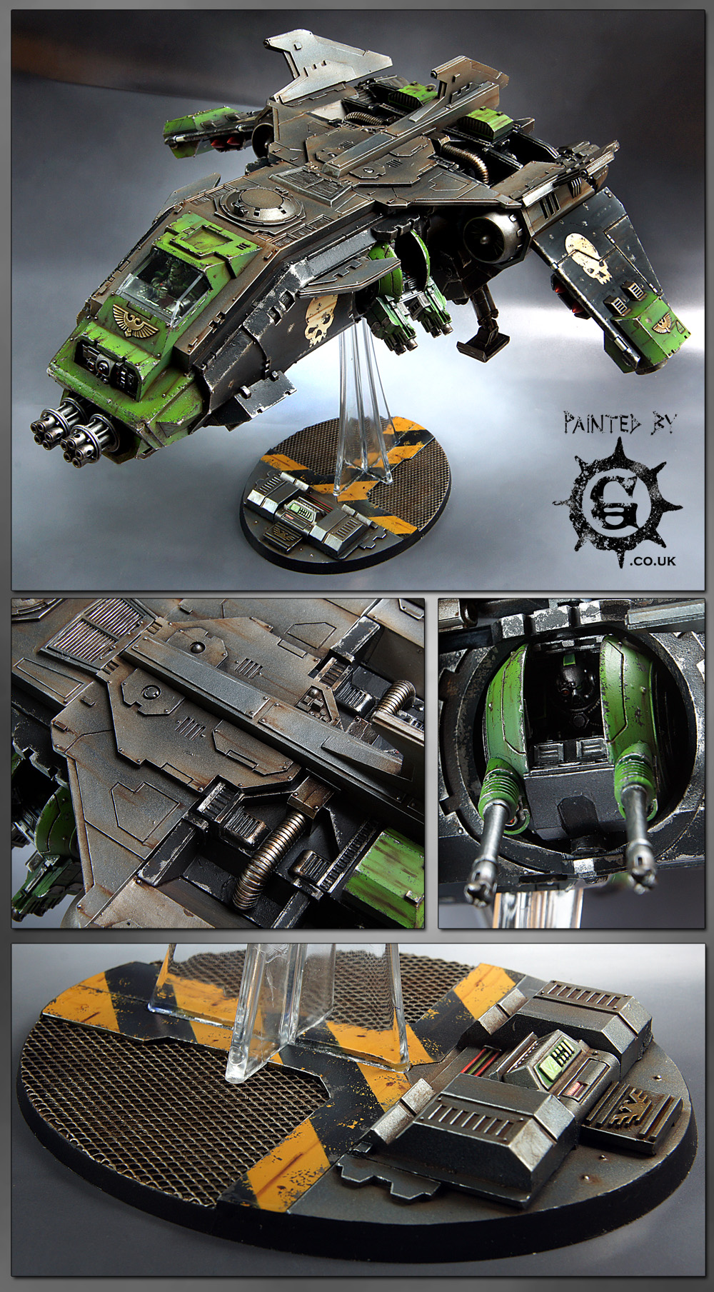 CoolMiniOrNot Doom Legion Fire Raptor By Painted By G