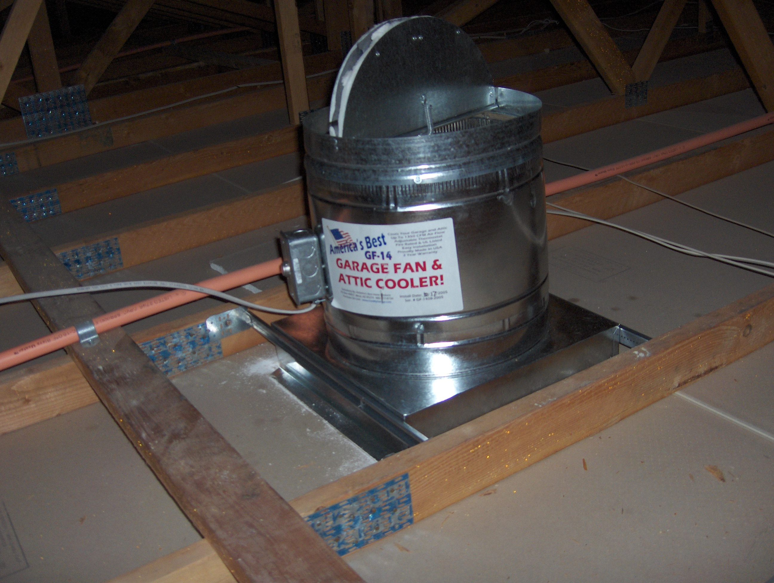 gf 14 garage fan and attic cooler