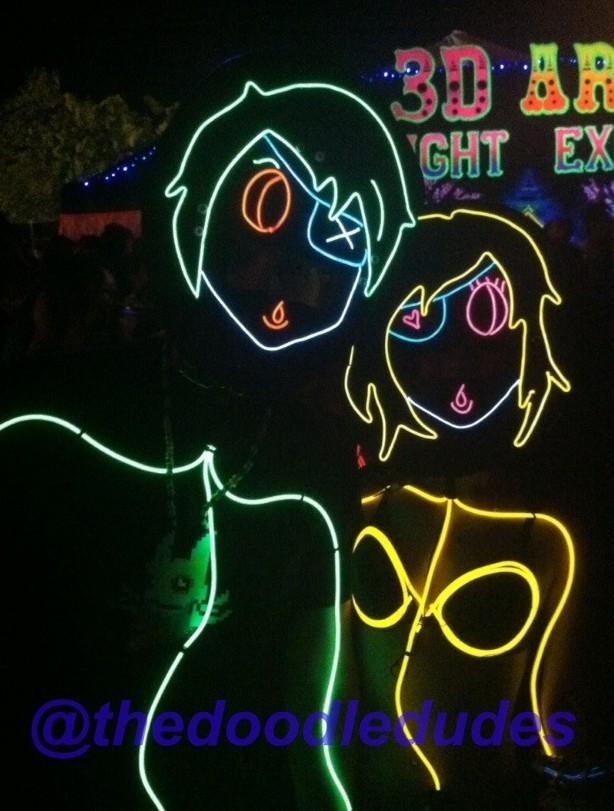 Doodle Dudes - Cool Neon EL Wire