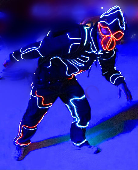Fabulous Cool Neon Wire Suit - Cool Neon EL Wire
