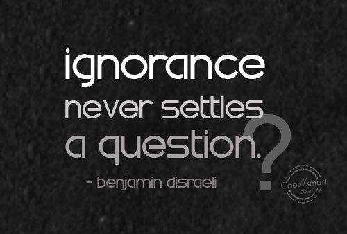 Ignorant Dealing Quotes People