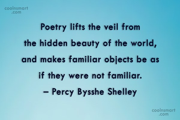 Quote: Poetry lifts the veil from the hidden... - CoolNsmart.com