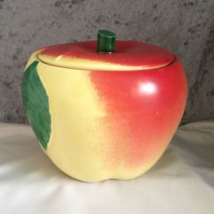 Kitchen Matches Modern Sink 1940s Hull Pottery Blushing Apple Grease Jar Small ...