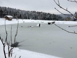 Zugefrorener See am Kleinen Vorwerk