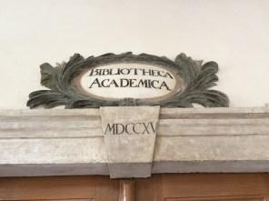 Inschrift am Lutherhaus in Wittenberg
