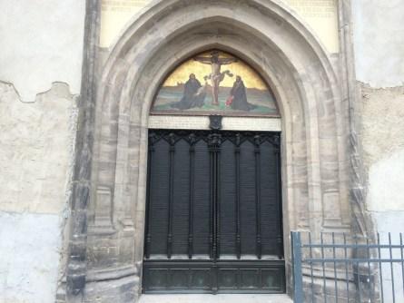 Schlosskirche – Tür mit 95 Thesen Luthers