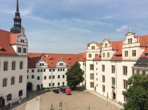 Schloß Hartenfels – Blick vom Turm in den Innenhof