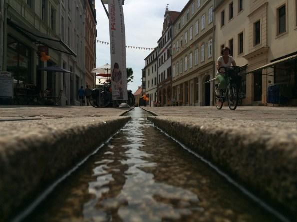 Torgau – Wassergraben in der Bäckerstraße