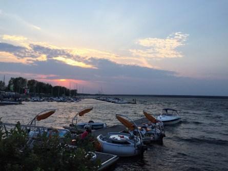 Sonnenuntergang am Greifswalder See