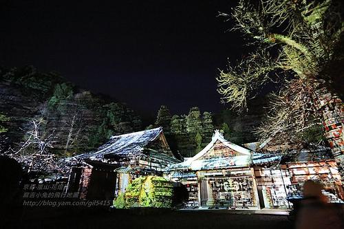 京都嵐山法輪寺花灯路01