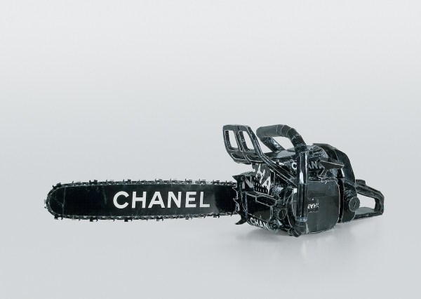 "hanel Chain Saw 1996 cardboard, thermal adhesive 12 x 27 x 37 inches Included in the upcoming exhibition ""Regarding Warhol: Sixty Artists, Fifty Years,"" Sept 18-Dec 31, 2012 at The Metropolitan Museum of Art."