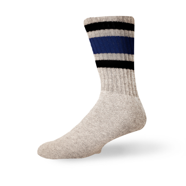 Black and Blue - Grey Sock
