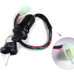 4 Wire Ignition Switch Diagram Atv Agile Development Key Set Scooter Moped 49 50 Cc 110