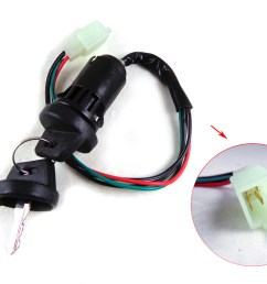 4 wire key ignition switch set scooter moped 49 50 cc 110 150 250cc chinese [ 1024 x 768 Pixel ]