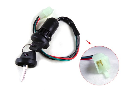 small resolution of 4 wire key ignition switch set scooter moped 49 50 cc 110 150 250cc chinese