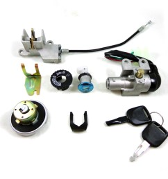 5 wire key ignition switch set scooter moped 49 50 cc 110 150 250cc chinese lock [ 1024 x 768 Pixel ]
