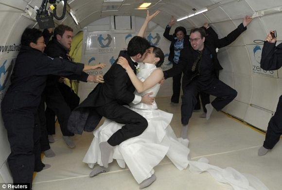 Zero Gravity Wedding When SciFi Fans Get Married