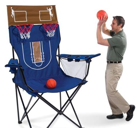huge lawn chair leather and a half recliner brobdingnagian giant has built in basketball shootout game