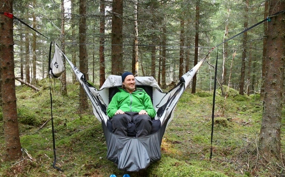 Amok Draumr Hammock Gives Campers A Flat Stable BedLike Cot