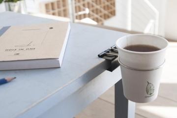 Drinklip Is A ClipOn Cupholder For Your Desk