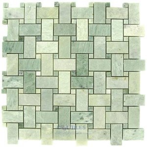 clear view mosaic tile basketweave marble and travertine mosaic tiles basketweave ming green polished 12 x 12 mesh backed sheet
