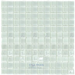vidrepur titanium recycled glass tile mesh backed sheet in snow white iridescent