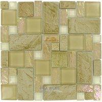 elida ceramica elite tile glass stone 12 x12 glass mosaic in sand slate
