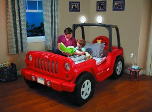 little tikes jeep toddler bed
