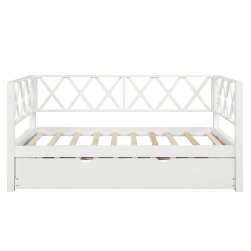 Wood Daybed with Trundle,Twin Size 3