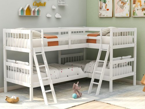 L-Shaped Bunk Bed Twin Size 9