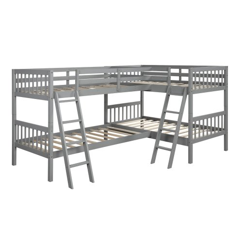 L-Shaped Bunk Bed Twin Size 2