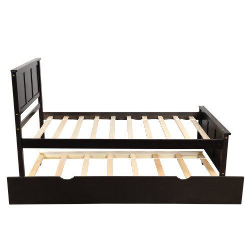 Platform Bed With Twin Size Trundle 5