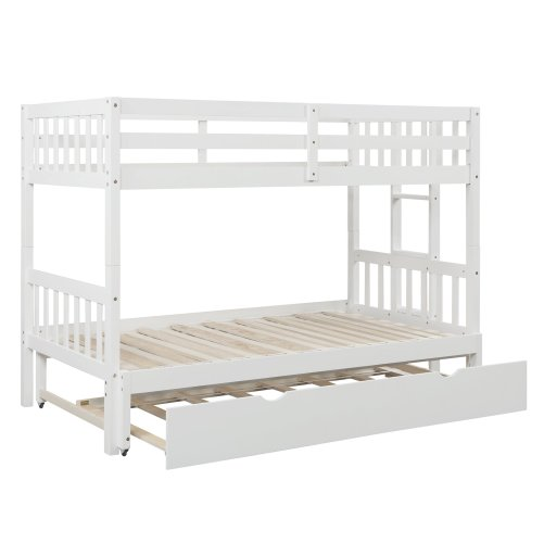 Twin Over Pull-out Bunk Bed With Trundle