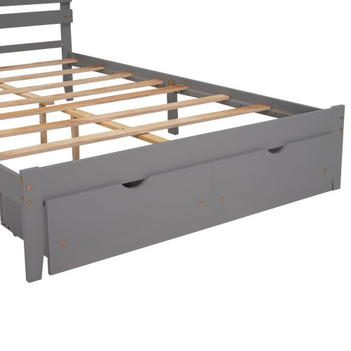 Queen Size Platform Bed With Drawers