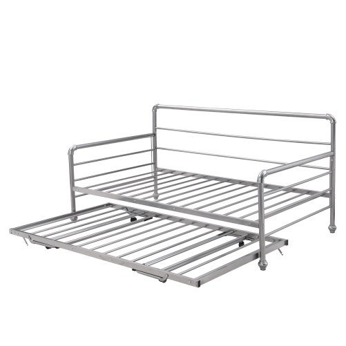 Twin Size Daybed With Adjustable Trundle