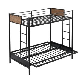 Rustic Twin Over Full Metal Bunk Bed