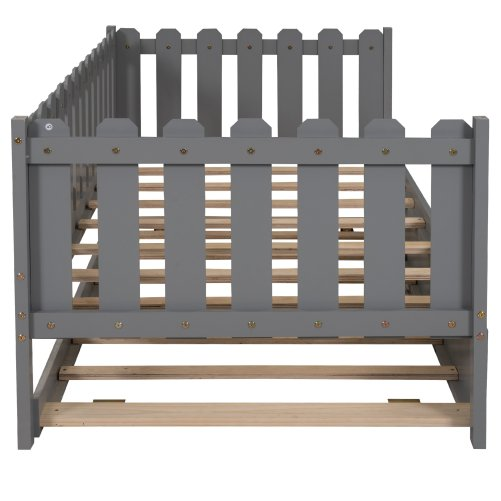 Rustic Style Twin Size Daybed With Trundle