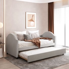Twin Size Upholstered Daybed With Twin Size Trundle