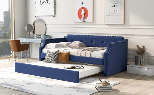 Twin Upholstered Daybed With Trundle