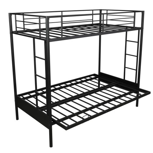 Twin over Full Metal Bunk Bed, Multi-Function 6
