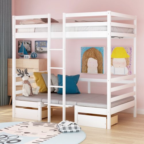 Functional Bunk bed , twin size 8