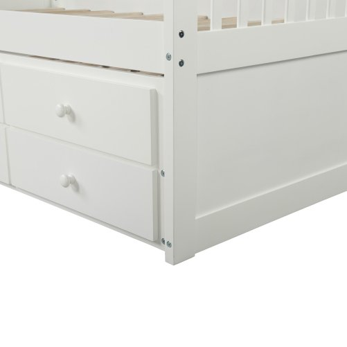 Bed with Trundle and 3 Storage Drawers 7